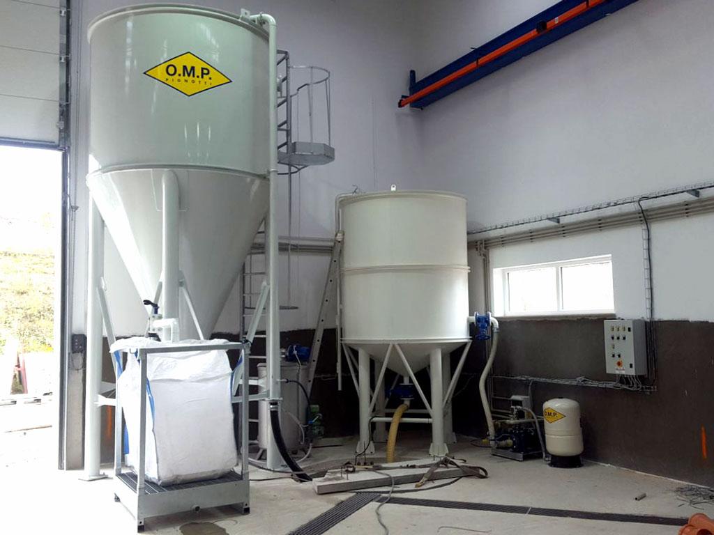 Rep.Ceca – Impianto trattamento acque BIG BAG